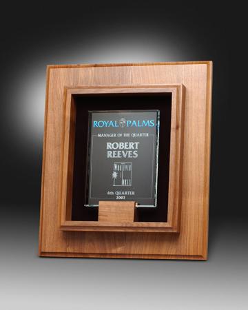 Shadow Box Frame Award With Glass Insert | Lane Award