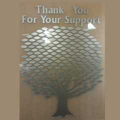 Donor Wall Plaque