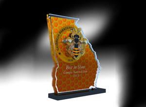 beekeeper acyrlic award