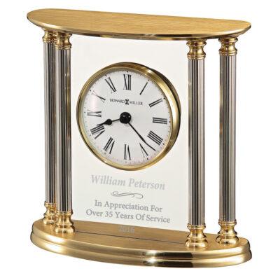 New Orleans Brass/Glass Clock