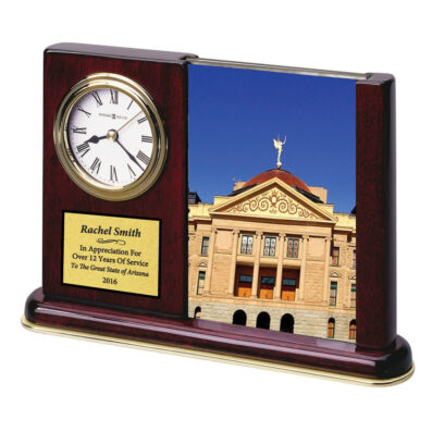 Portrait Caddy High Gloss Rosewood Finished Clock