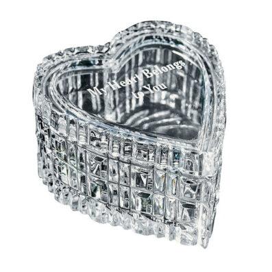 Crystal Heart Shaped Keepsake Box