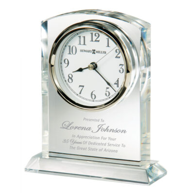 Rhapsody Optic Crystal Clock