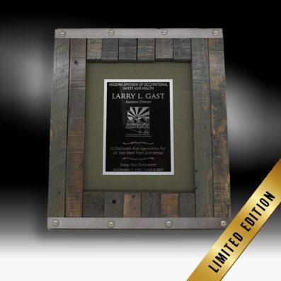Riveted Letterbox Frame Award